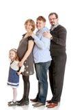 Vierköpfige Familie Lizenzfreies Stockbild