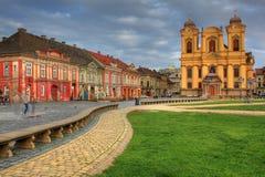 Vierkant 02, Timisoara, Roemenië van de Unie stock afbeeldingen