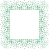 Vierkant abstract achtergrondgrenskader royalty-vrije illustratie