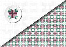 Vierkant abstract patroon 02 Stock Fotografie