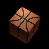 Vierkant basketbalpictogram Stock Foto's