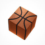 Vierkant basketbalpictogram Royalty-vrije Stock Foto