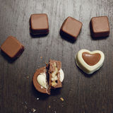 Vierkant beeld van eigengemaakte chocolade royalty-vrije stock afbeelding