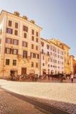 Vierkant bij Pantheon in Rome Italië Stock Foto's