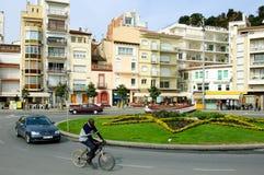 Vierkant in Blanes Spanje Royalty-vrije Stock Fotografie