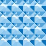 Vierkant blauw geometrisch abstract patroon Stock Foto's