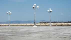 Vierkant in Castello-kwartaka Casteddu in Cagliari, Italië royalty-vrije stock afbeeldingen
