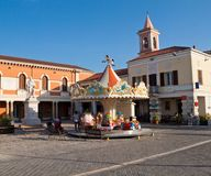 Vierkant in Cesenatico, Emilia-Romagna royalty-vrije stock afbeeldingen