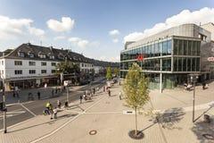 Vierkant in de stad van Siegen, Duitsland royalty-vrije stock afbeelding