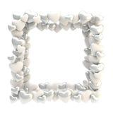 Vierkant die fotokader van geïsoleerde harten wordt gemaakt Royalty-vrije Stock Fotografie