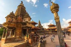 Vierkant durbar in Patan, oude stad in de Vallei van Katmandu stock foto's