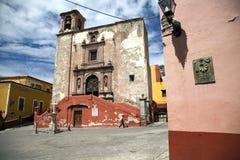 Vierkant en Kerk van San Roque Guanajuato Royalty-vrije Stock Foto