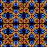 Vierkant etnisch naadloos vectorpatroon Royalty-vrije Stock Afbeeldingen