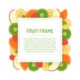 Vierkant fruitkader Stock Foto's