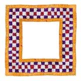 Vierkant Geïsoleerde TextielGrens Stock Afbeelding