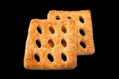 Vierkant geperforeerd koekje stock afbeeldingen