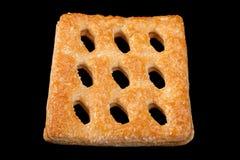 Vierkant geperforeerd koekje royalty-vrije stock foto's