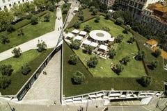 Vierkant in het centrum van Lissabon wordt opgeschort dat royalty-vrije stock foto