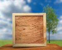 Vierkant houten frame stock afbeeldingen