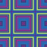 Vierkant hypnotic patroon, geometrische illusie Abstracte naadloos vector illustratie
