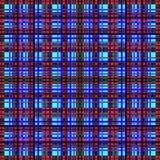 Vierkant hypnotic patroon, geometrische illusie De textuur van het behang vector illustratie