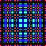 Vierkant hypnotic patroon, geometrische illusie het decor herhaalt vector illustratie