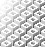Vierkant Isometrisch Grey Seamless Pattern vector illustratie