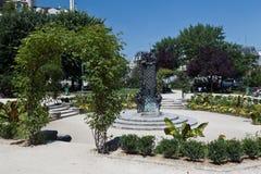 Vierkant Jean XXIII Parijs Frankrijk Stock Foto's