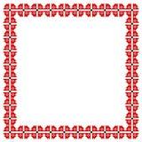Vierkant kader met elementen van borduurwerk Stock Foto