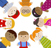 Vierkant kader met kinderen Royalty-vrije Stock Foto