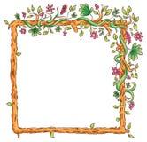 Vierkant Kader met Tropische Installaties stock illustratie