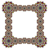 Vierkant kader van abstracte bloemen Royalty-vrije Stock Fotografie