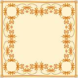 Vierkant kader van geschilderd ornament op een bleke achtergrond Royalty-vrije Stock Foto's