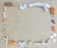 Vierkant kader van koraal Royalty-vrije Stock Afbeelding