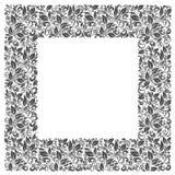 Vierkant kader van patronen en bladeren Stock Afbeelding