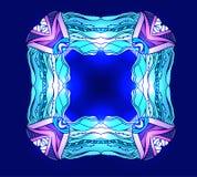 Vierkant kleurrijk krabbelkader met fonkeling Stock Fotografie