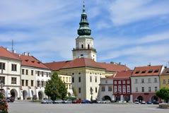 Vierkant in Kromeriz, Tsjechische republiek royalty-vrije stock afbeelding