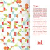 Vierkant malplaatje met funky abstracte achtergrond. Stock Afbeeldingen