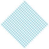 Vierkant met blauwe lijnen Royalty-vrije Stock Afbeelding