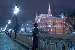 Vierkant Moskou, Manege en het Historische Museum van de Staat Stock Afbeelding