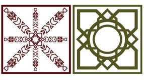 Vierkant motief twee stock illustratie