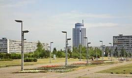 Vierkant in Naberezhnye Chelny Rusland royalty-vrije stock foto