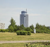 Vierkant in Naberezhnye Chelny Rusland royalty-vrije stock foto's