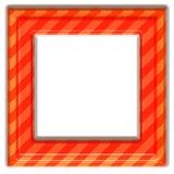 Vierkant oranje frame vector illustratie