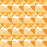 Vierkant oranje geometrisch abstract patroon Royalty-vrije Stock Afbeeldingen