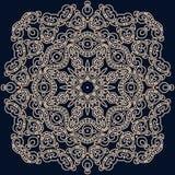 Vierkant patroon in oosterse stijl Kan voor het verfraaien worden gebruikt tex royalty-vrije illustratie