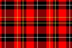 Vierkant patroongeruite Schotse wollen stof Stock Afbeelding