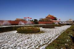 Vierkant Peking - Tiananmen   Stock Fotografie