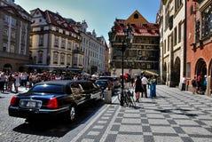 Vierkant in Praag stock afbeelding