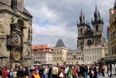 Vierkant in Praag Stock Foto